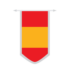 flag of spain on a banner vector image