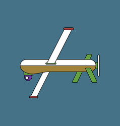 flat icon design collection military drone vector image