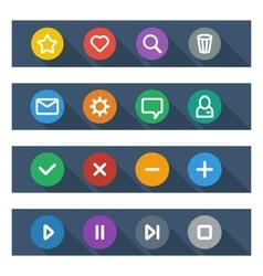Flat UI design elements - set of basic web icons vector