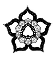 Floral mandala bohemian culture meditation vector