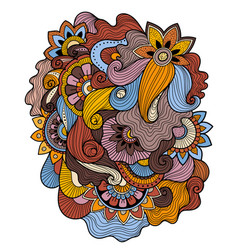 Floral tattoo zentagle methoddoudles composition vector