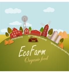 For fresh food Eco farm vector