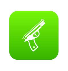 gun icon digital green vector image