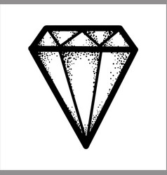 hand drawn sketch of a black glamourous diamond vector image