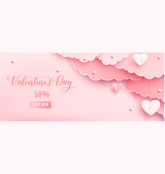 happy valentines day greeting background in vector image