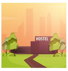 Hostel building guest house hotel building vector