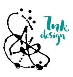 ink stains design vector image