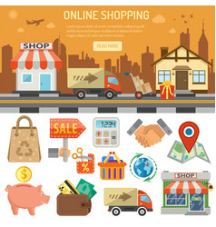 internet shopping banner vector image
