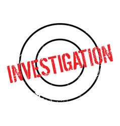 Investigation rubber stamp vector