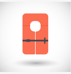 Life jacket flat icon vector