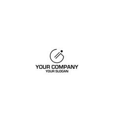 line gi logo design vector image