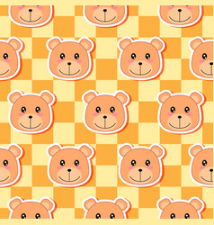 little bear pattern 02 vector image