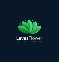 logo leaves flower gradient colorful vector image