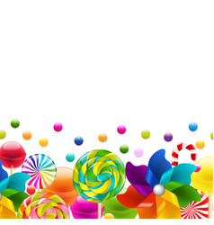 Lollypop big set with pinwheel border vector