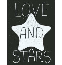 Love and stars poster vector