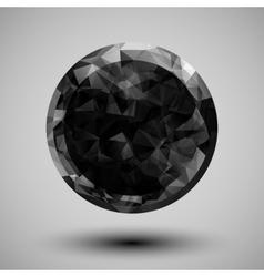 low poly circular shape vector image