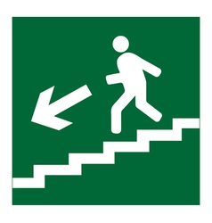 Man on Stairs going down symbol vector