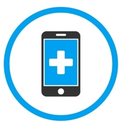 Mobile Medicine Rounded Icon vector