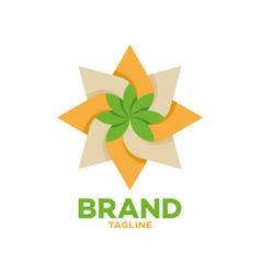 Modern cannabis and oil logo vector