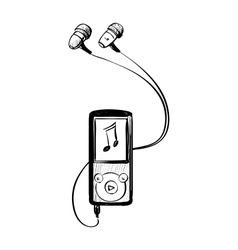 Music player doodle vector