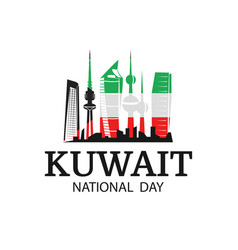 National day kuwait vector