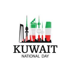 National day kuwait vector