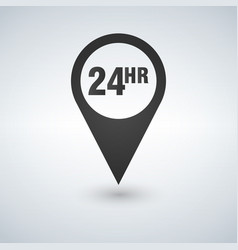 open around the clock or 24 hours a day and 7 days vector image