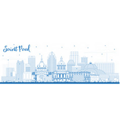 Outline saint paul minnesota city skyline with vector