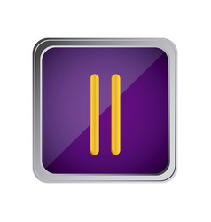 Pause button icon with background purple vector