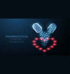 pills abstract two open capsule pills with vector image