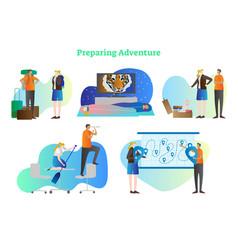 preparing adventure collection vector image