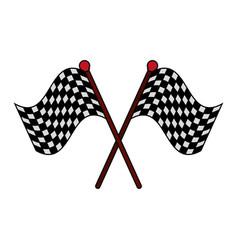 racing flag flat vector image