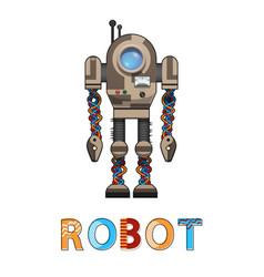 robot artificial organism vector image