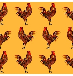 Rooster seamless vector image