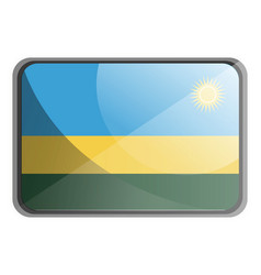 rwanda flag on white background vector image