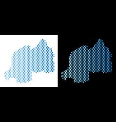 Rwanda map hex-tile scheme vector