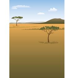 Savanna landscape vector