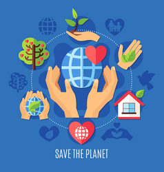 save planet charity composition vector image