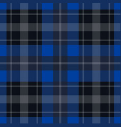 seamless blue black tartan - white stripes vector image