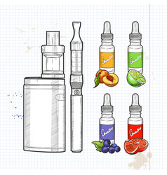 set e-cigarette vector image