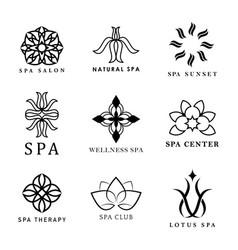 Set spa logo vector