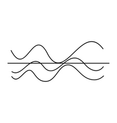 Sound waves icon simple style vector image