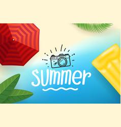 summer season concept with beach vector image