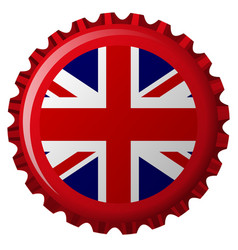 uk bottle cap vector image