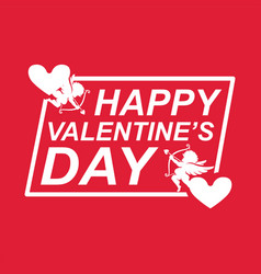 Valentine day cupid heart image vector