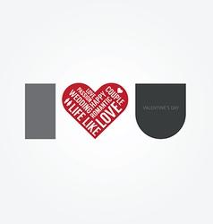 Valentines Day Love Symbol Modern Design vector image