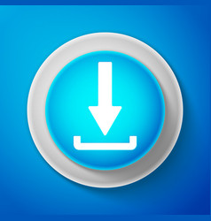 white download icon upload button load symbol vector image