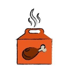 Fast food box take away drawing vector