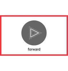 Forward button contour outline vector image vector image