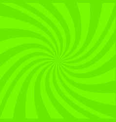 Green abstract spiral ray background vector